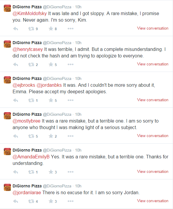 Digiorno Apologizes on Twitter